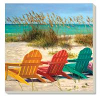 Counter Art Beach Chairs Coasters Set of 4