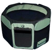 "Pet Gear Travel Lite Soft-Sided Pet Pen with Removable Top Sage 36"" x 36"" x 23"""