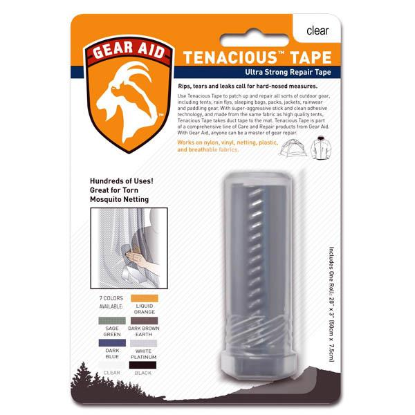 Gear Aid Tenacious Clean Tape, 3 in.  X 20 in., Clear