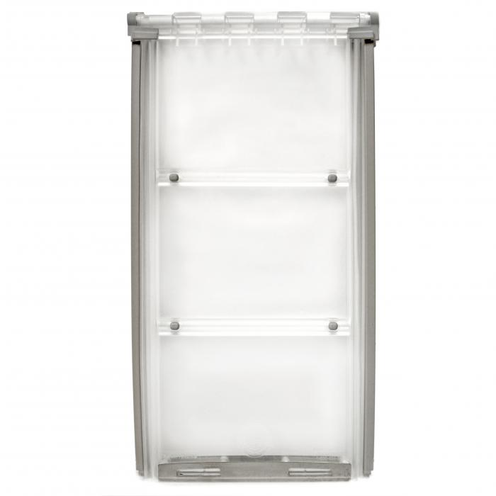 "Endura Flap Pet Door, Thermo Panel 3e, Large Flap, 10""w x 19""h - 74.75-77.75"" Tall, White Frame"