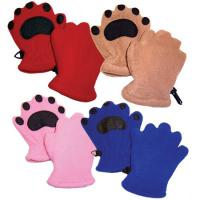 Bearhands Youth Fleece Mittens, Red