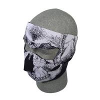 Neoprene Face Mask, Black & White Skull Face