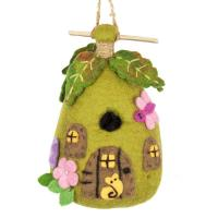 DZI Handmade Designs Fairy House Felt Birdhouse