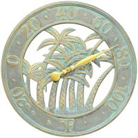 Whitehall Palm Thermometer - Bronze Verdi
