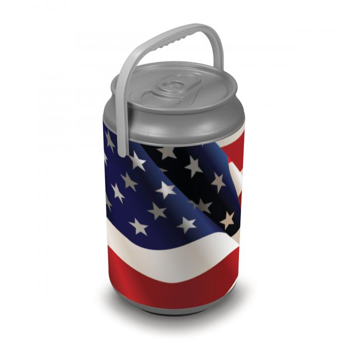 Picnic Time Extra Large Insulated Mega Can Cooler, American Flag Can