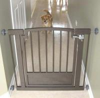 Royal Weave Hallway Dog Gate - Mocha