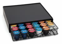 Lipper Coffee Maker Shelf with Storage Drawer, Black