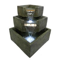 Smart Garden Cascadia Falls Electric Corner Fountain with LEDs