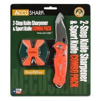 Accusharp SharpNEasy 2-Step Sharpener & Sport Knife - Orange