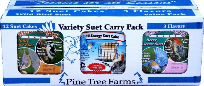 Pine Tree Farms Variety Suet Pack Nutty Butter, Hi-Energy, Berry Essence
