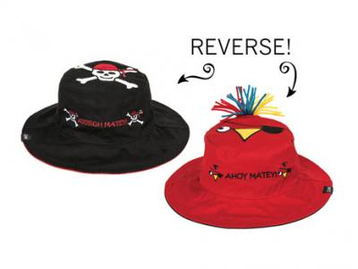Luvali Convertibles Pirate/Parrot Reversible Kids' Hat Small
