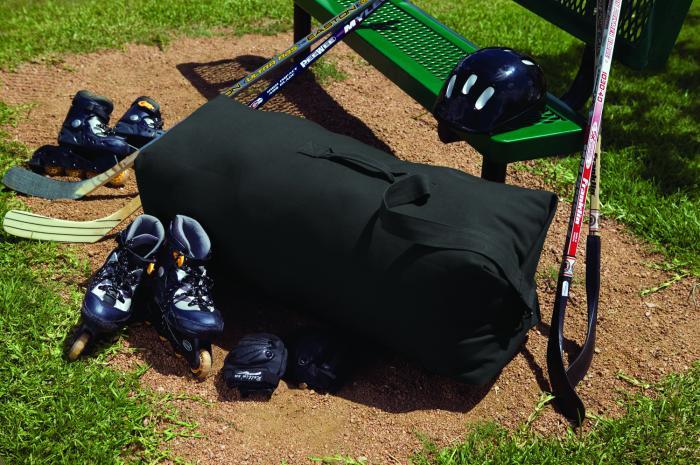 "Texsport 50"" x 30"" Black Canvas Duffel Bag"