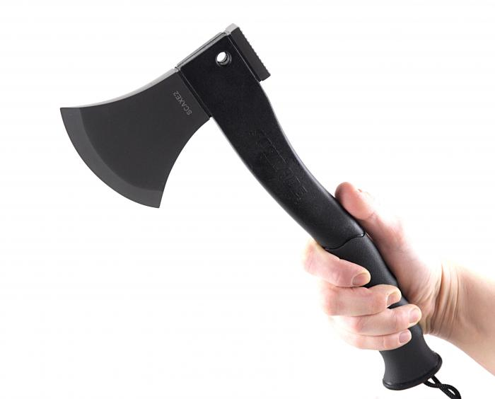 Schrade SCAXE2 Axe 3Cr13 Stainless Steel Blade w/Fire Starter, Rubber Handle