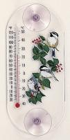 Aspects Titmouse/Chickadees Window Thermometer