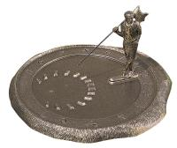 Golfer Sundial - French Bronze