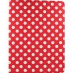 Accellorize 16127 Red Dot  Ipad Mini Case, Flips Open
