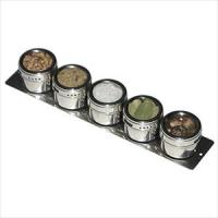 Lipper SOHO Stainless Steel Strip Board Shaker Set w/ 5 Containers