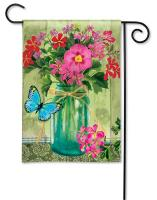 Magnet Works Mason Jar Bouquet Garden Flag