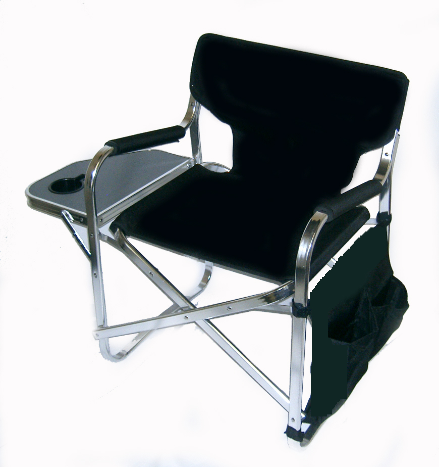 Aluminum Portable Folding Director Chair With Side Table