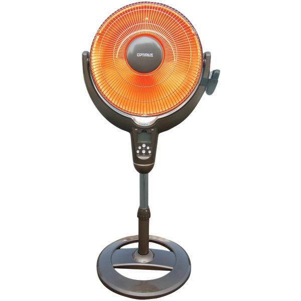 Optimus H-4501 14 Oscillating Pedestal Dish Heater