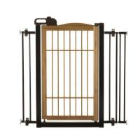 "Richell Také One-Touch Pet Gate Bamboo 28.3"" - 35.8"" x 2"" x 34.6"""