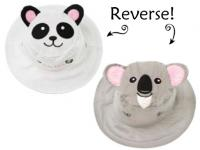 Luvali Convertibles Panda/Koala Reversible Kids' Hat Small