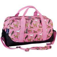 Olive Kids Horses in Pink Duffel Bag