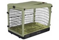 Pet Gear The Other Door Steel Crate With Plush Pad Sage