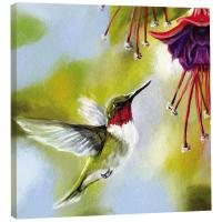 Tree Free Greetings Ruby and Fuchsia Art Plaque