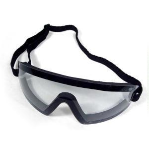 Bobster Action Eyewear Wrap Around Goggle, Black Frame, Clear Lens