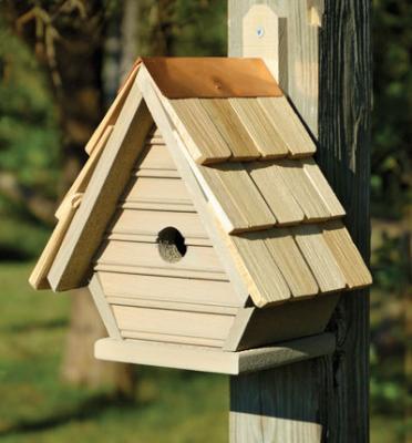 Heartwood Chick Birdhouse, Smoke Grey