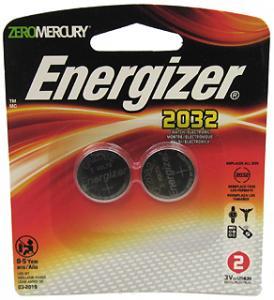 Energizer Lithium Coin #2032 3Volt (2-pack)