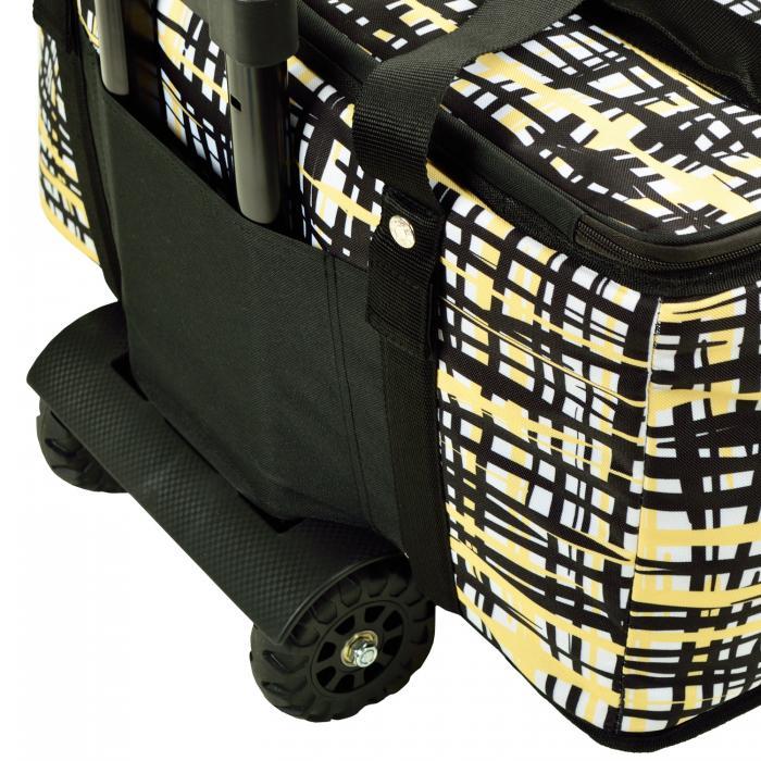 Picnic at Ascot Extra large Hybrid Semi-Rigid Folding Cooler with Wheels- Paris