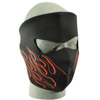 Cold Weather Headwear Neoprene Face Mask, Orange Flame