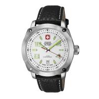 Wenger Outback Watch, White Dial, Black Strap