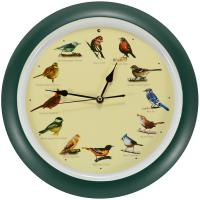 "Mark Feldstein 13"" Green Singing Bird Clock"