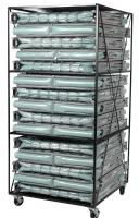 Blantex XM-6  3 Level Bed Cart with 15 Extra Wide Folding Cots