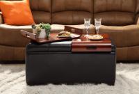 Designs2Go Storage Ottoman With Trays (Espresso)