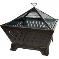 "Landmann USA Brooke 26"" Square Fire Pit, Antique Bronze"