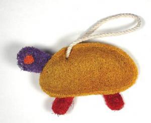 Loofah Art Turtle