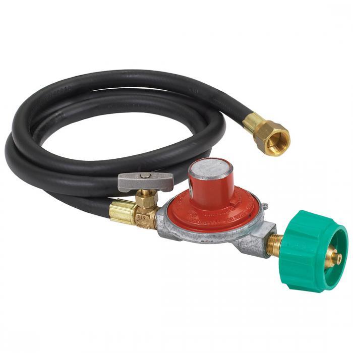 "Bayou Classic Model 36"" High Pressure LPG Hose Regulator/Control Valve"