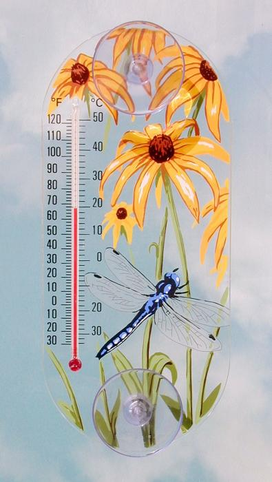 Aspects Dragonfly Window Thermometer