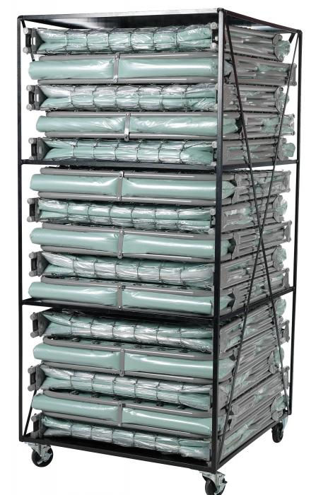 Blantex Xm 6 3 Level Bed Cart With 15 Extra Wide Folding Cots