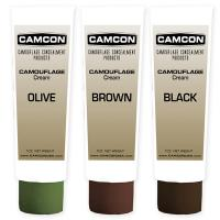 Camcon Camouflage Cream Squeeze Tube Make-Up Kit, Black/Brown/Olive