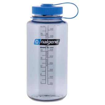 Nalgene Everyday Grey With Blue Lid Wide Mouth