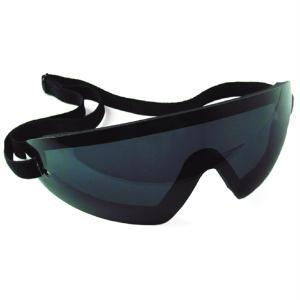Bobster Action Eyewear Wrap Around Goggle, Black Frame, Smoked Lens