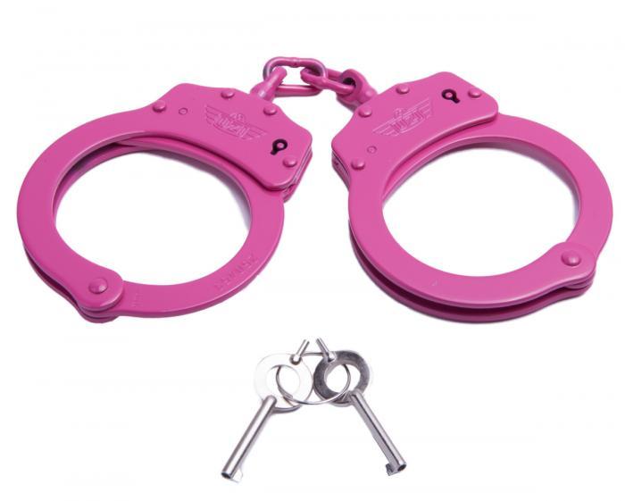 UZI Chain Handcuff - Pink