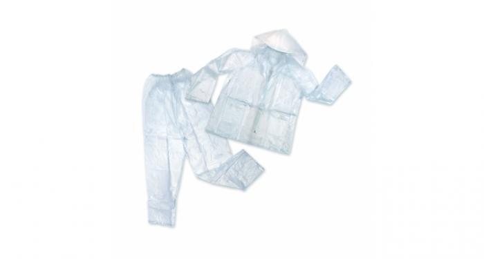 Stansport Mens Vinyl Rainsuit - Clear - S