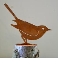 Elegant Garden Design Brown Thrasher Bird Silhouette