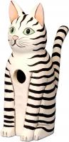 Songbird Essentials Sitting Black & White Striped Cat Birdhouse